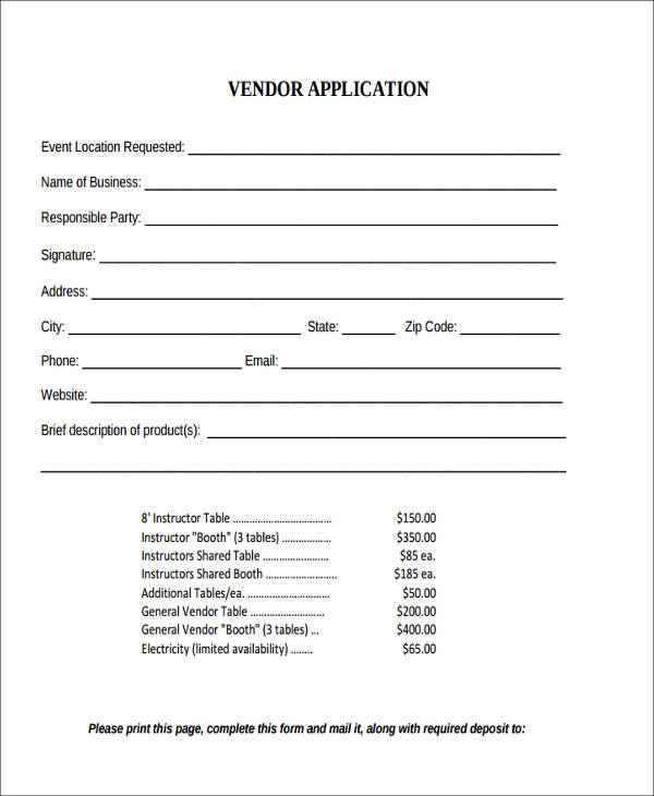 vendor application agreement form3