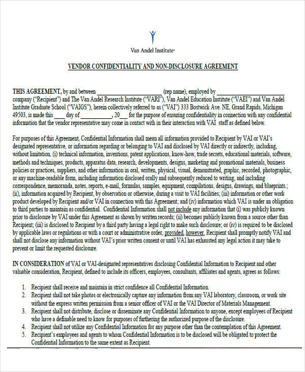 40 Free Confidentiality Agreement Samples