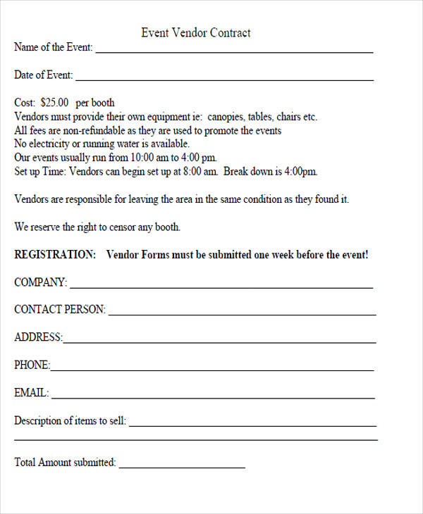 vendor contractor agreement form1