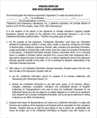 53 Confidentiality Agreement In Pdf Sample Templates