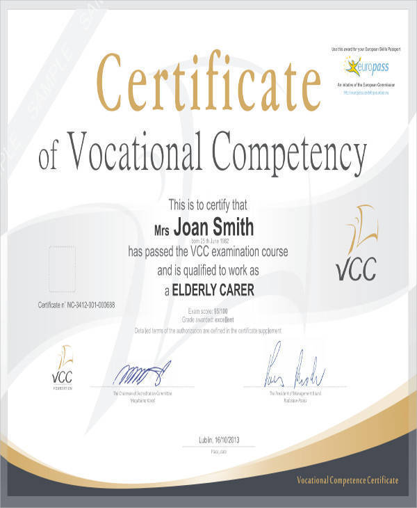 vocational education certificate1
