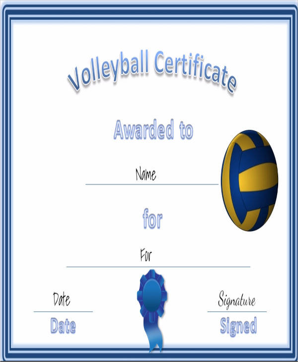 25 Sports Certificates in PDF | Sample Templates