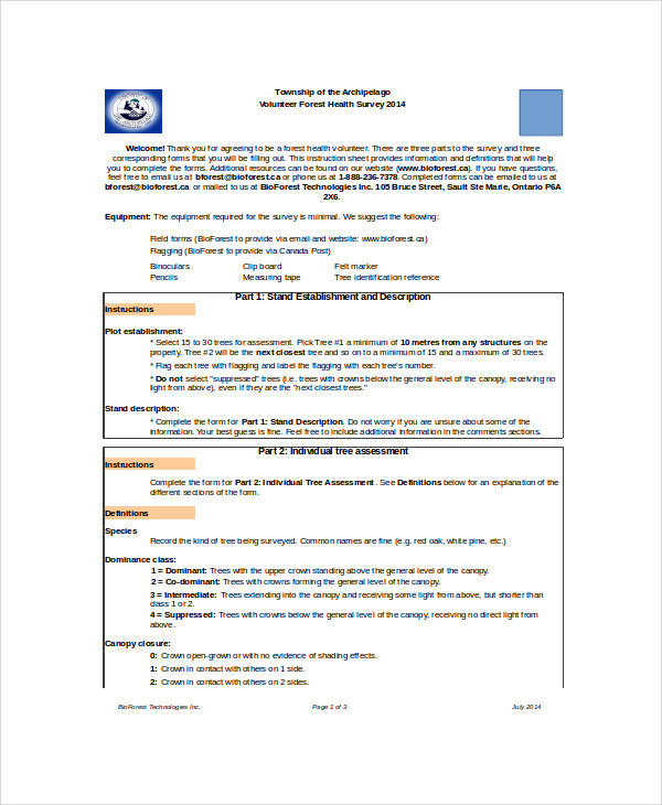volunteer health survey form1