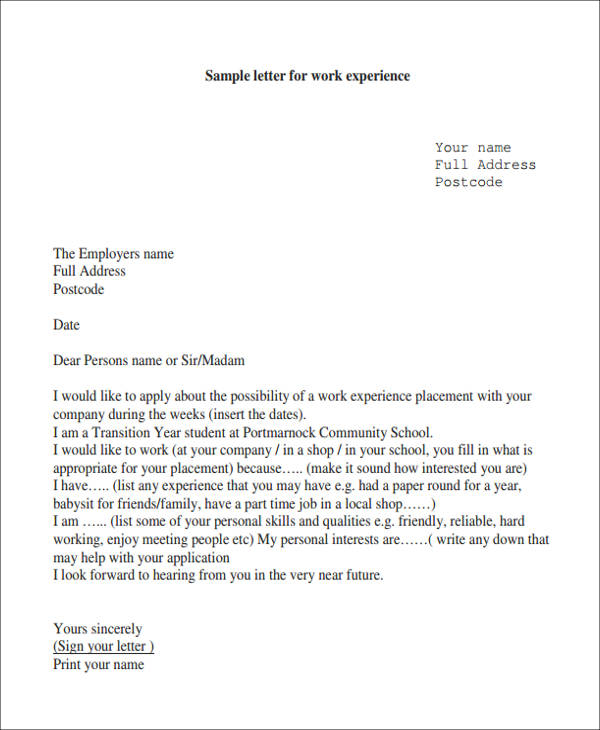 work experience letter3
