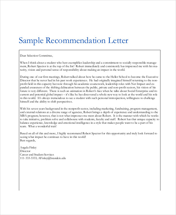 Reference Letters Experience Letter Sample Best Business Template
