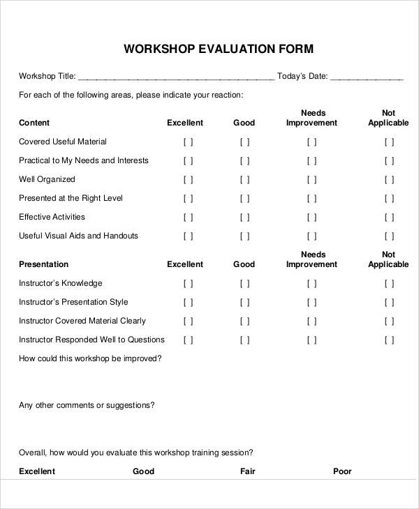 workshop evaluation form example1