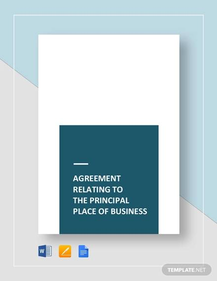 agreement relating to the place of business