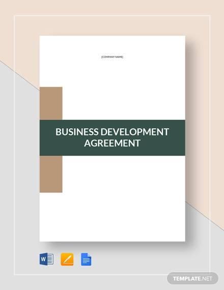 business development agreement