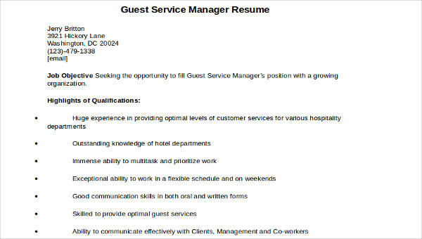 44+ Manager Resume Examples