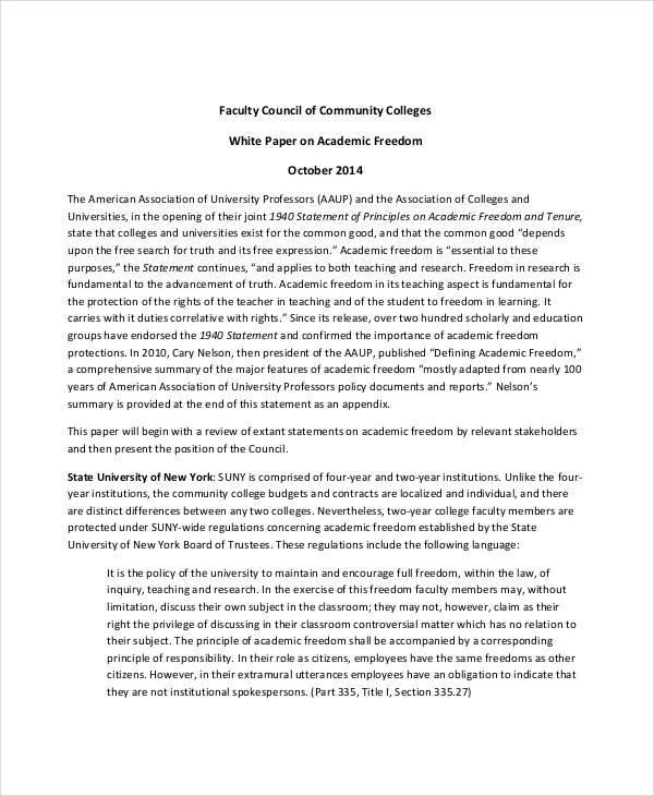 academic white paper