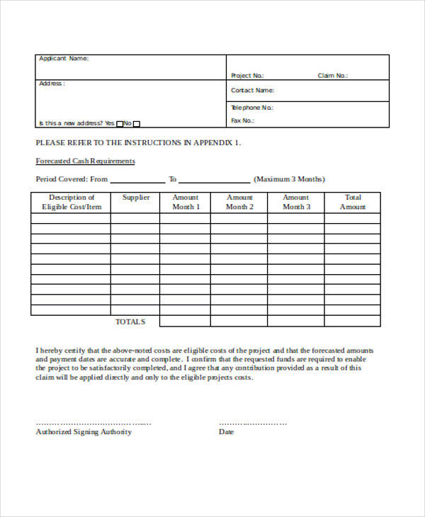 advance payment requisition form