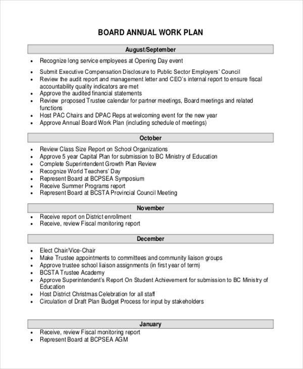 41 Work Plans In Pdf Sample Templates