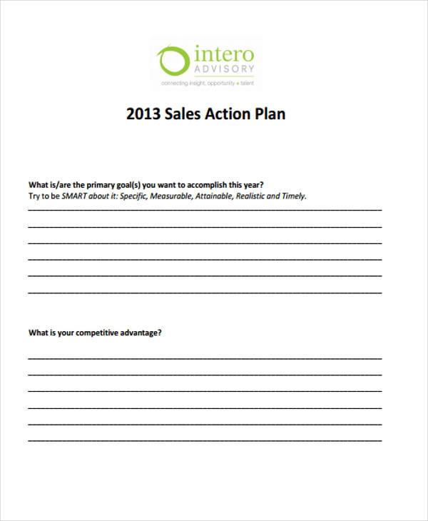 annual sales action plan1