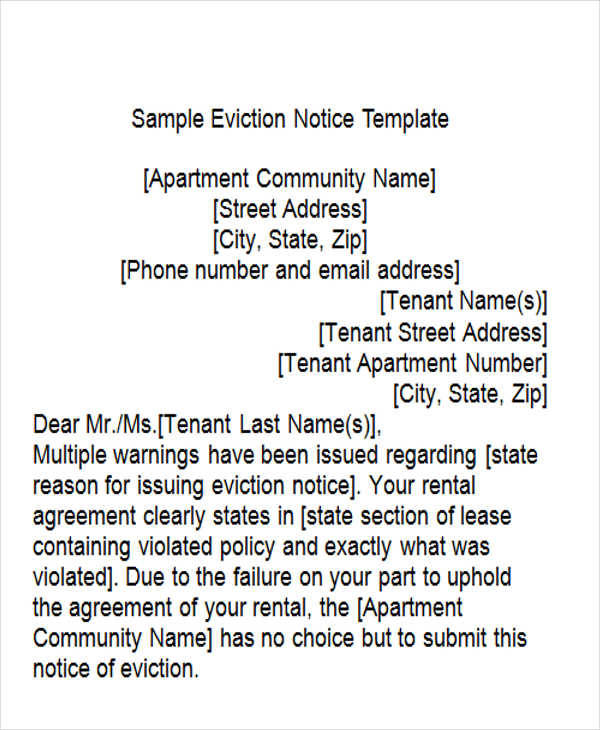 apartment eviction sample1