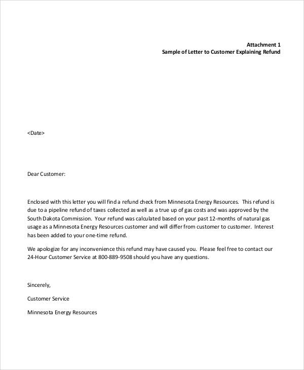 apology letter for late refund