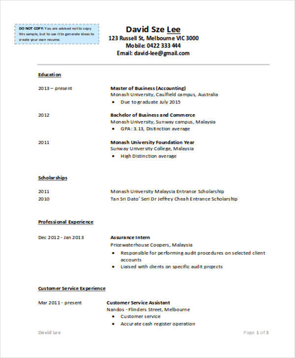 32+ Accountant Resume Samples