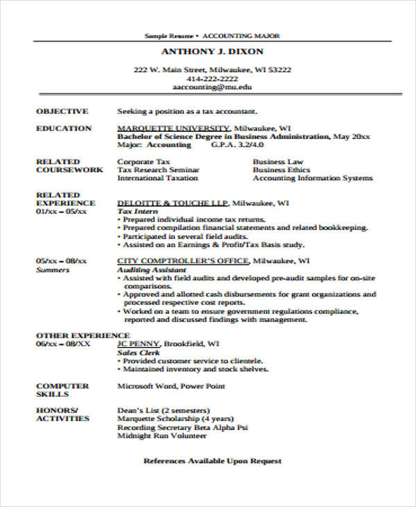 30+ Free Accountant Resumes