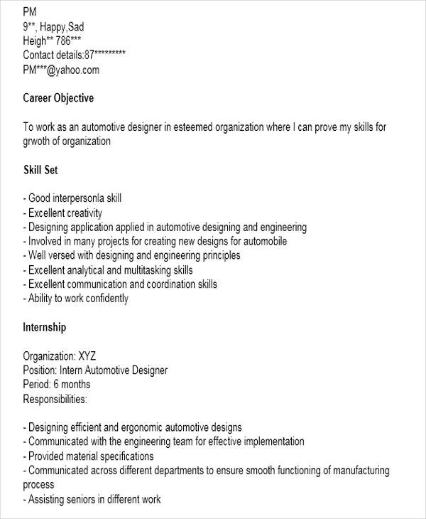 automobile engineer resume format1