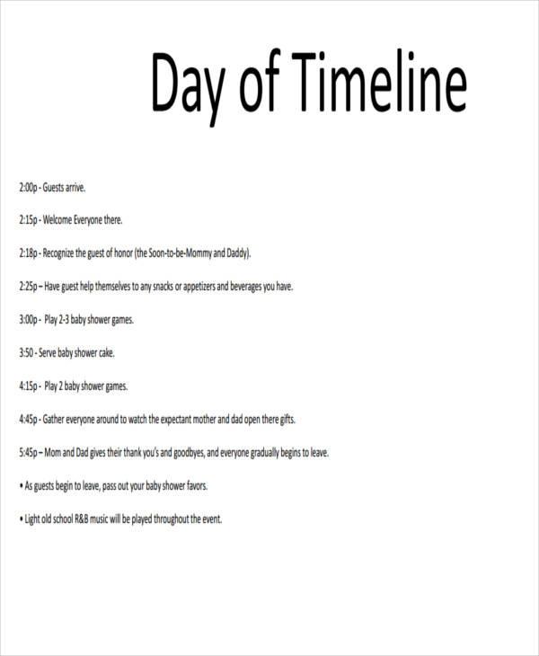 40 sample timelines
