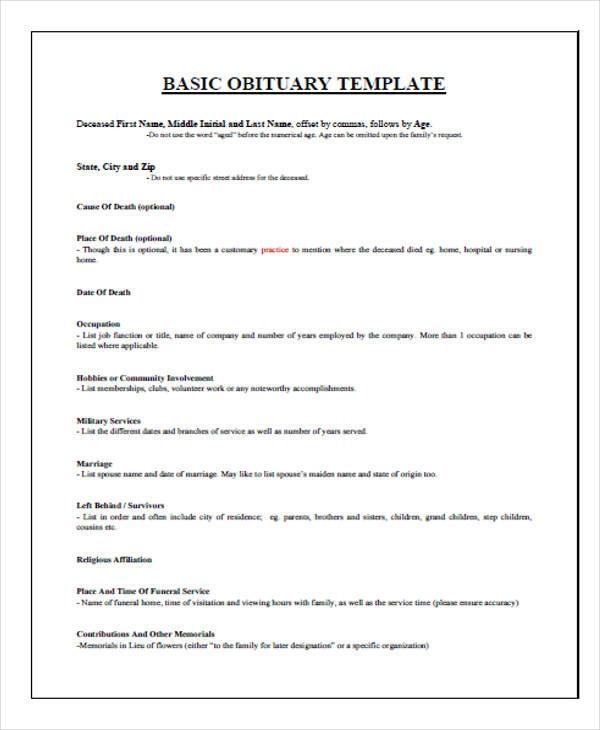 basic death obituary1