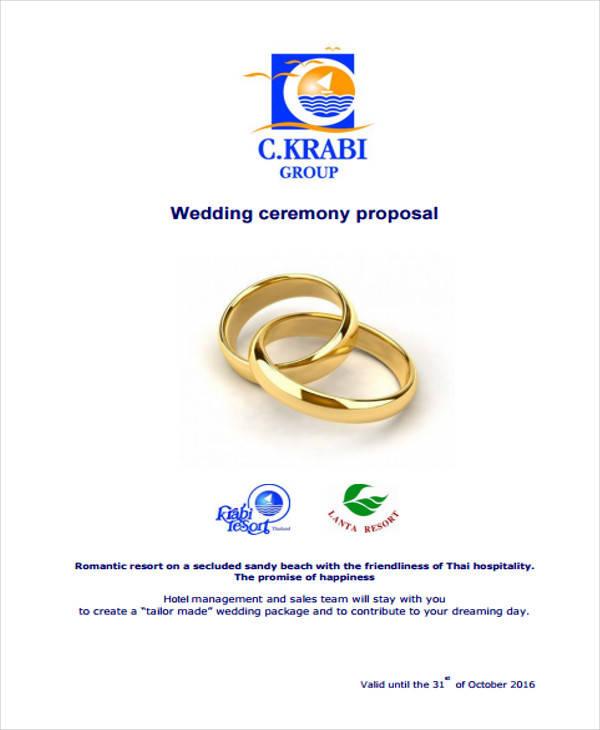 beach wedding event proposal