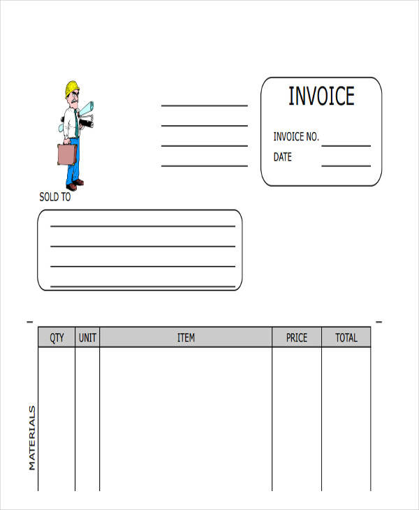 This is a graphic of Lucrative Free Printable Construction Invoice Template