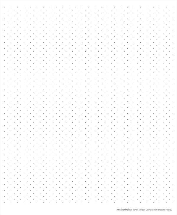 Free Printable Isometric Dot Paper
