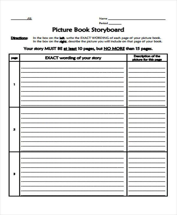 book storyboard