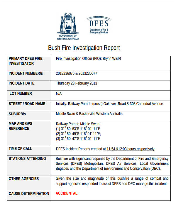 fire incident report Use the map or search bar to locate wildland fire and other natural resource incidents click a marker on the map and use the go to incident button for detailed information.