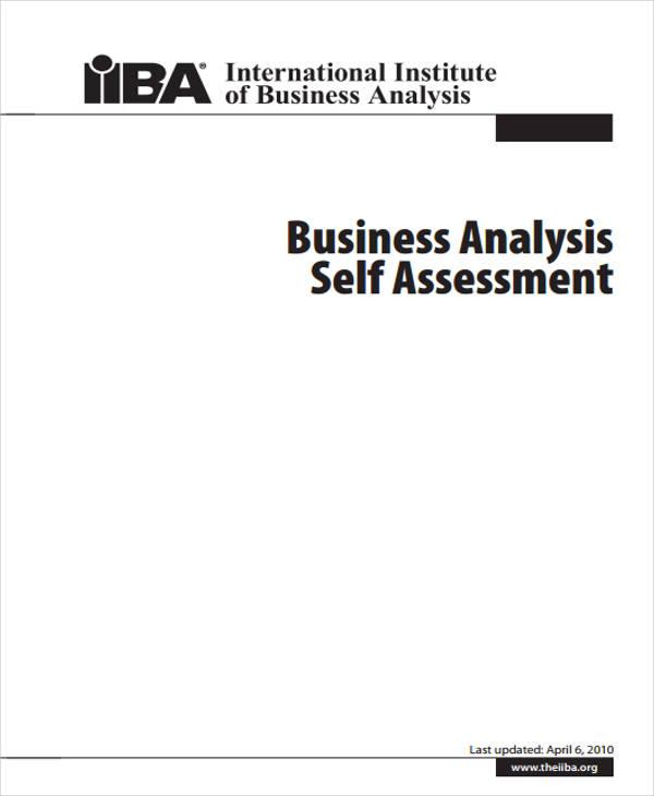 business analyst self