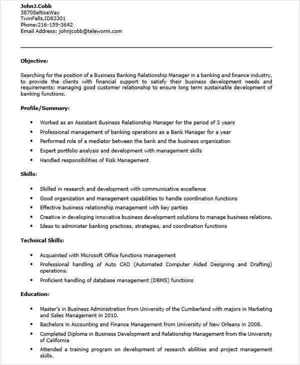 relations manager sample resume bi project manager cover letter