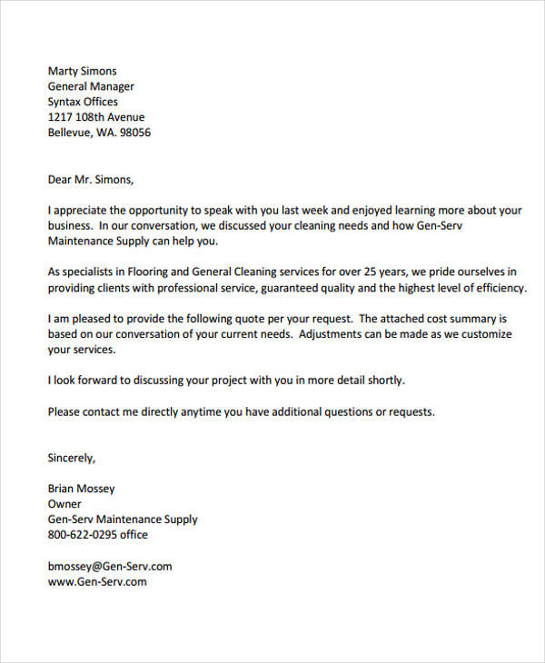 38 Business Proposal Letter Examples