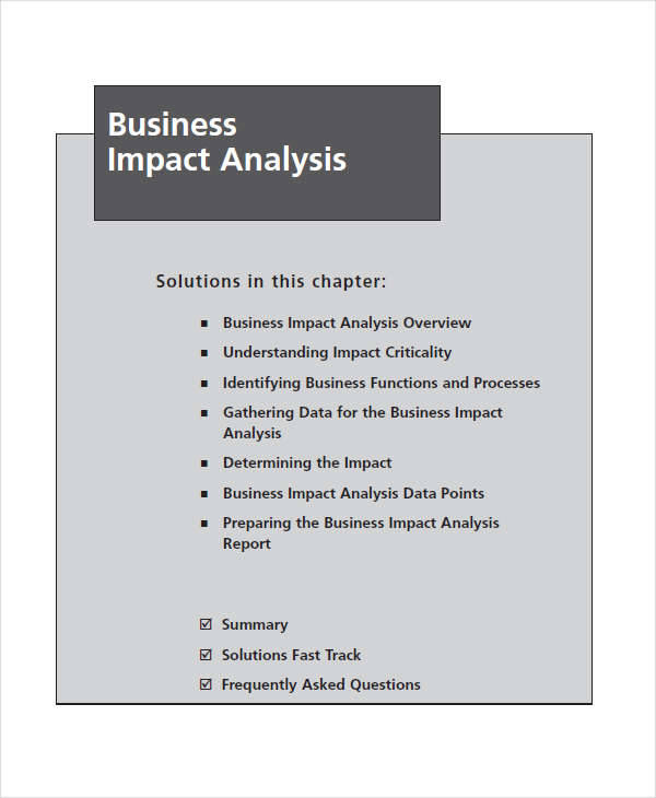 business impact
