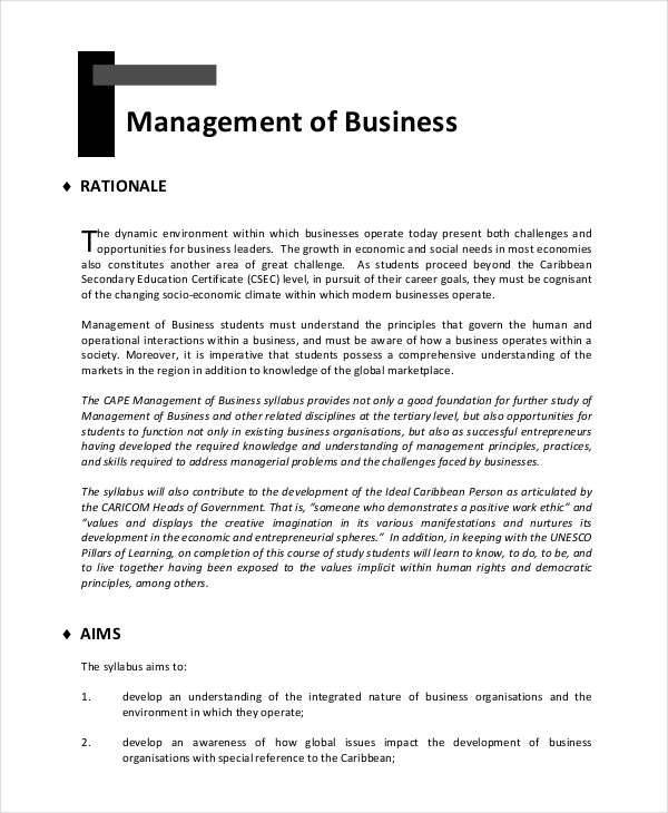 Term paper in management