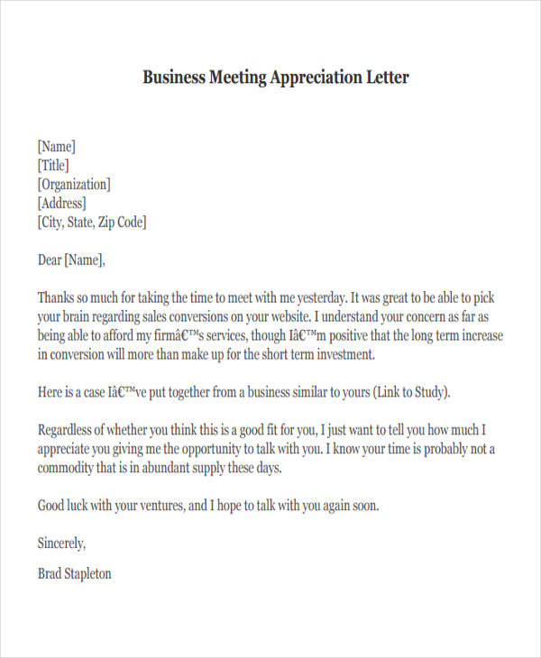 business meeting appreciation letter2