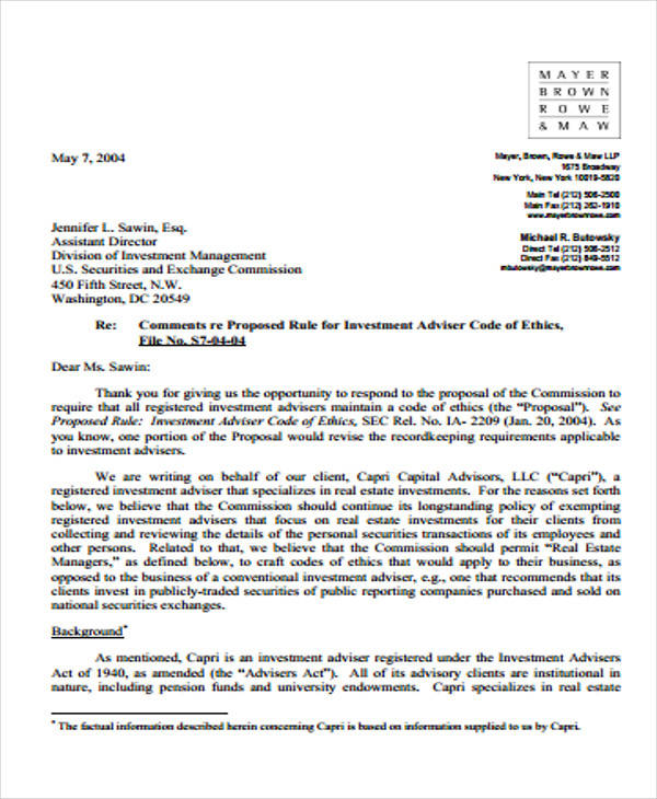 Business Proposal Acceptance Letter For Client  A Business Proposal Letter