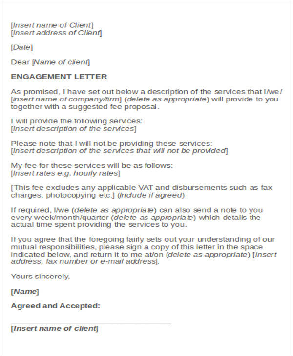 Business Proposal Acceptance Letter For Client
