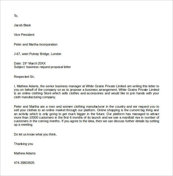 How To Write A Business Proposal Letter. Business Proposal