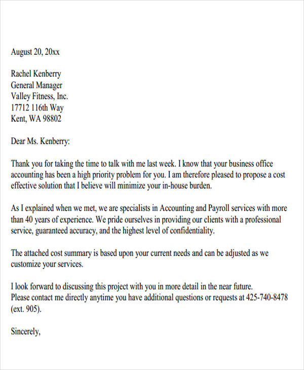 38+ Business Proposal Letter Examples