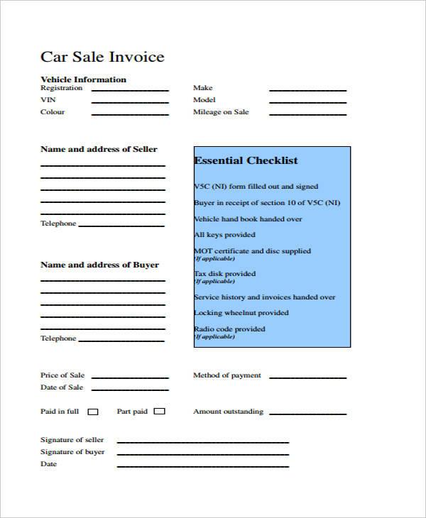 car sales invoice2