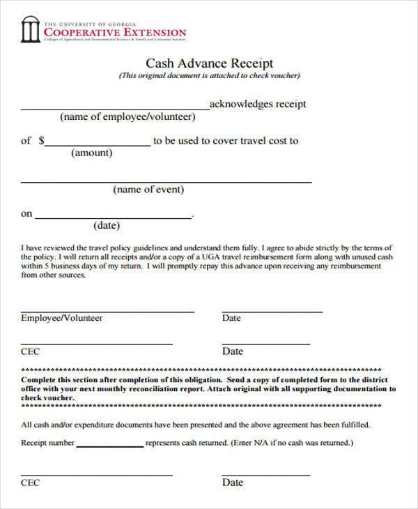 cash advance payment