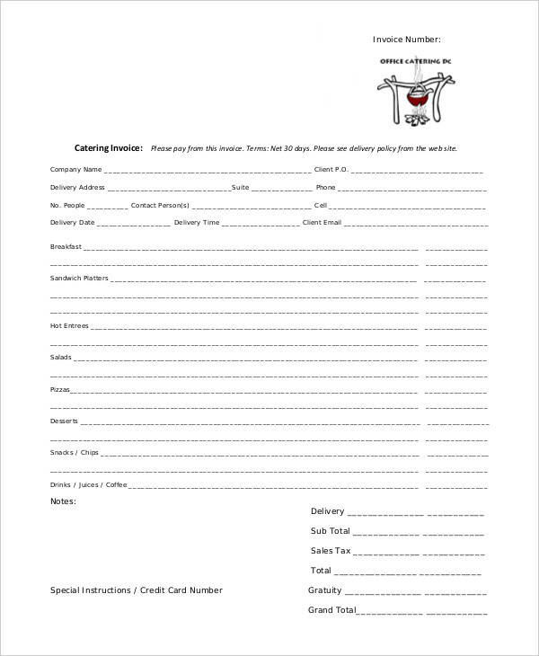 catering bill invoice1