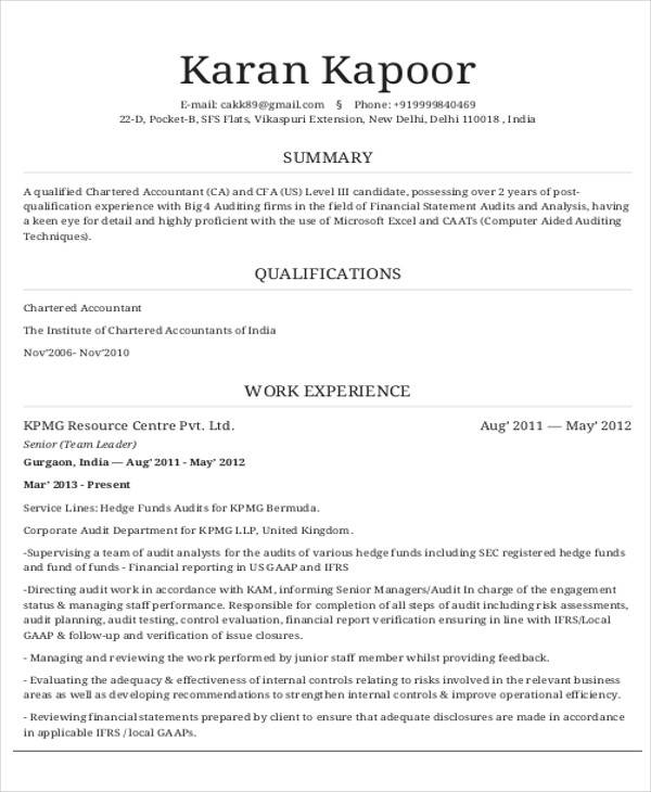 Free 36 Accountant Resume Samples In Ms Word Pages