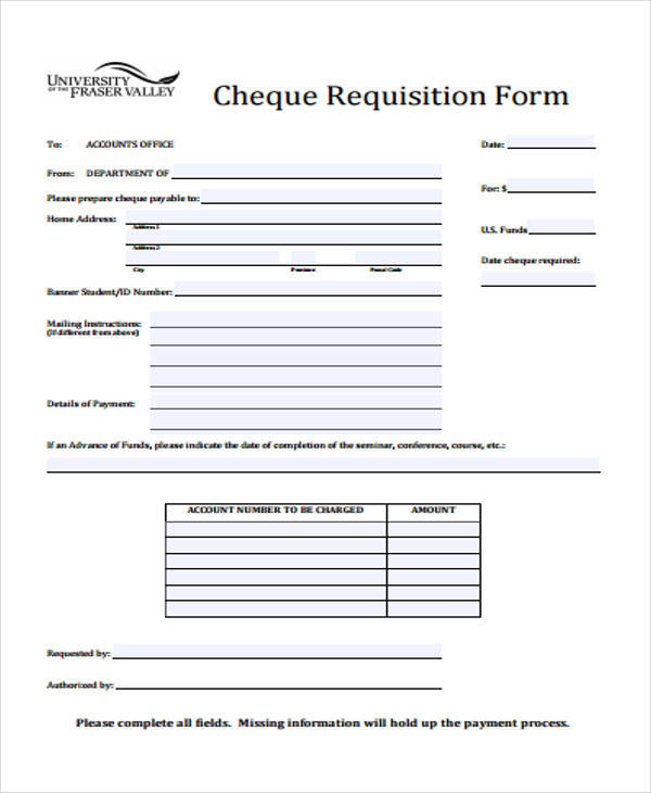 cheque requisition form pdf