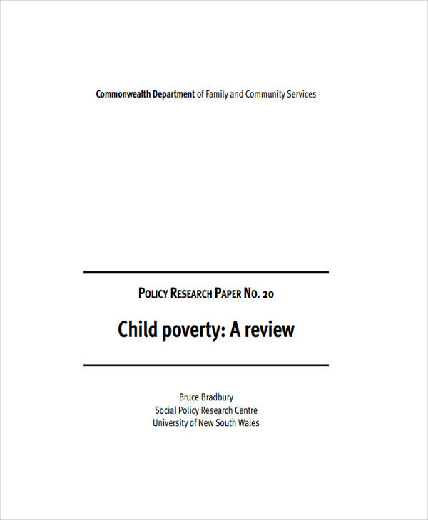 research paper samples child poverty paper