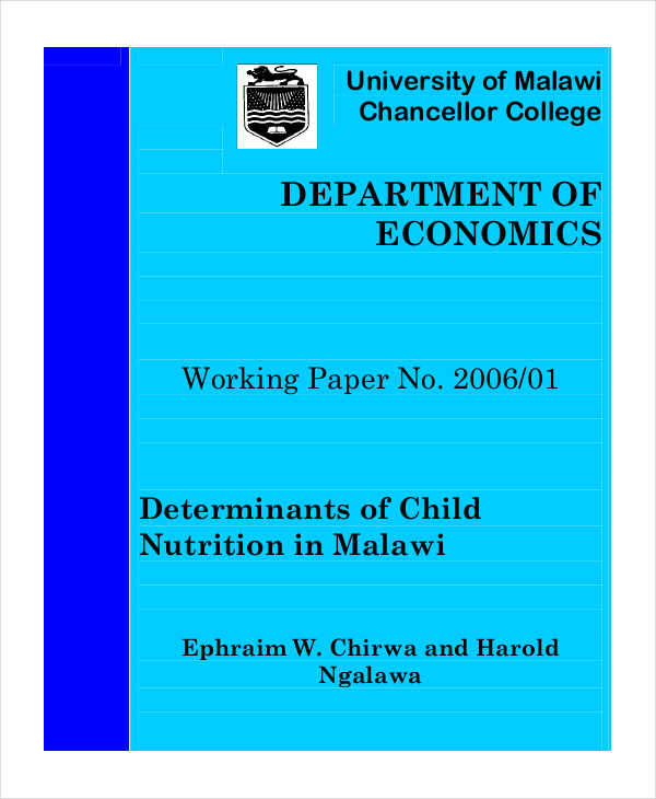 children nutrition paper