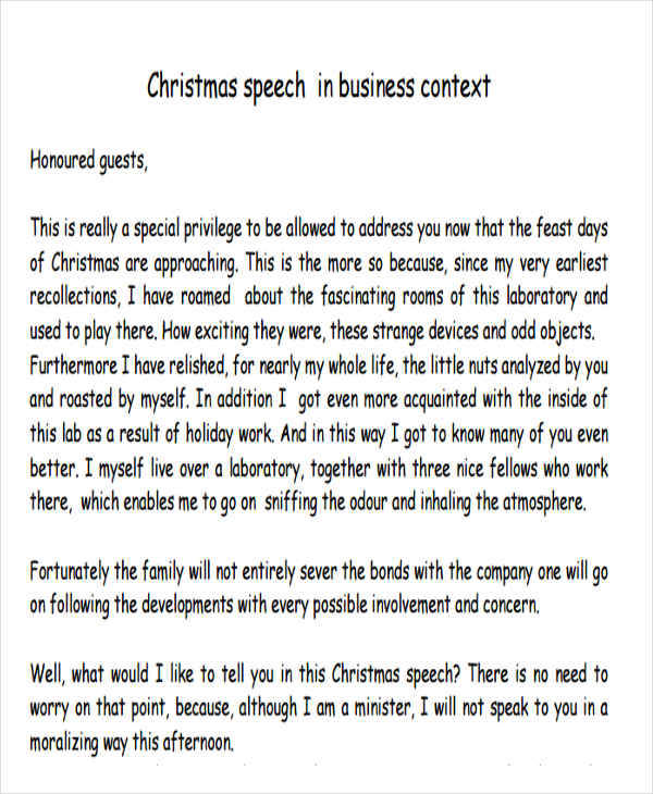 christmas party speech