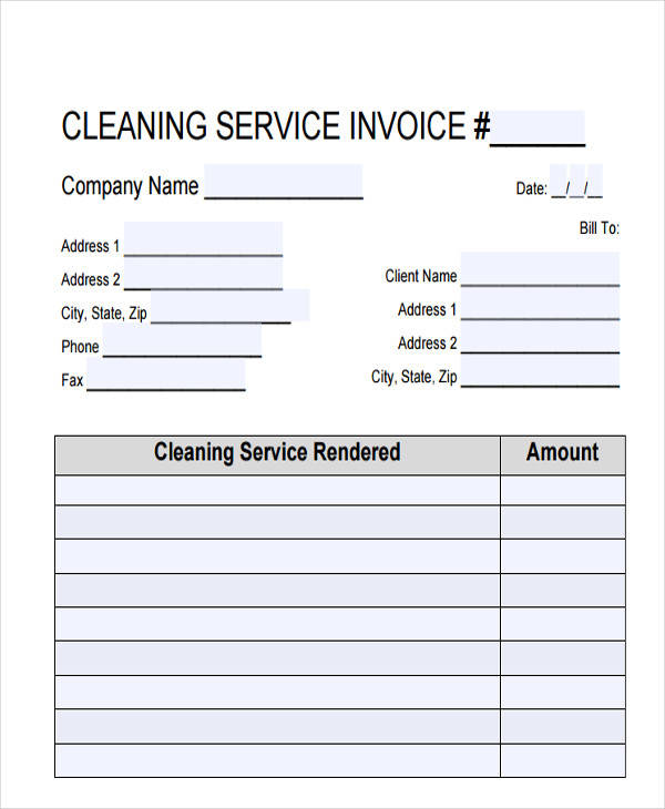 cleaning service bill2