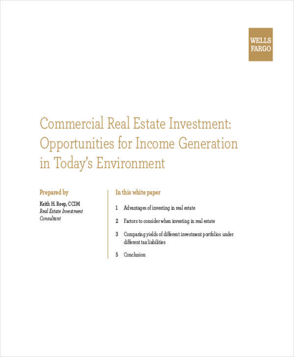 commercial real estate white paper