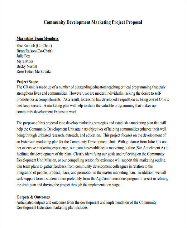 community development proposal